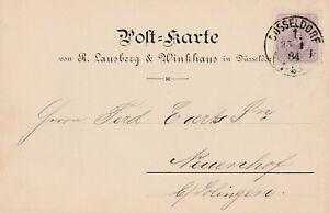 Postkarte-verschickt-von-Duesseldorf-nach-Neuenhof-aus-dem-Jahr-1884