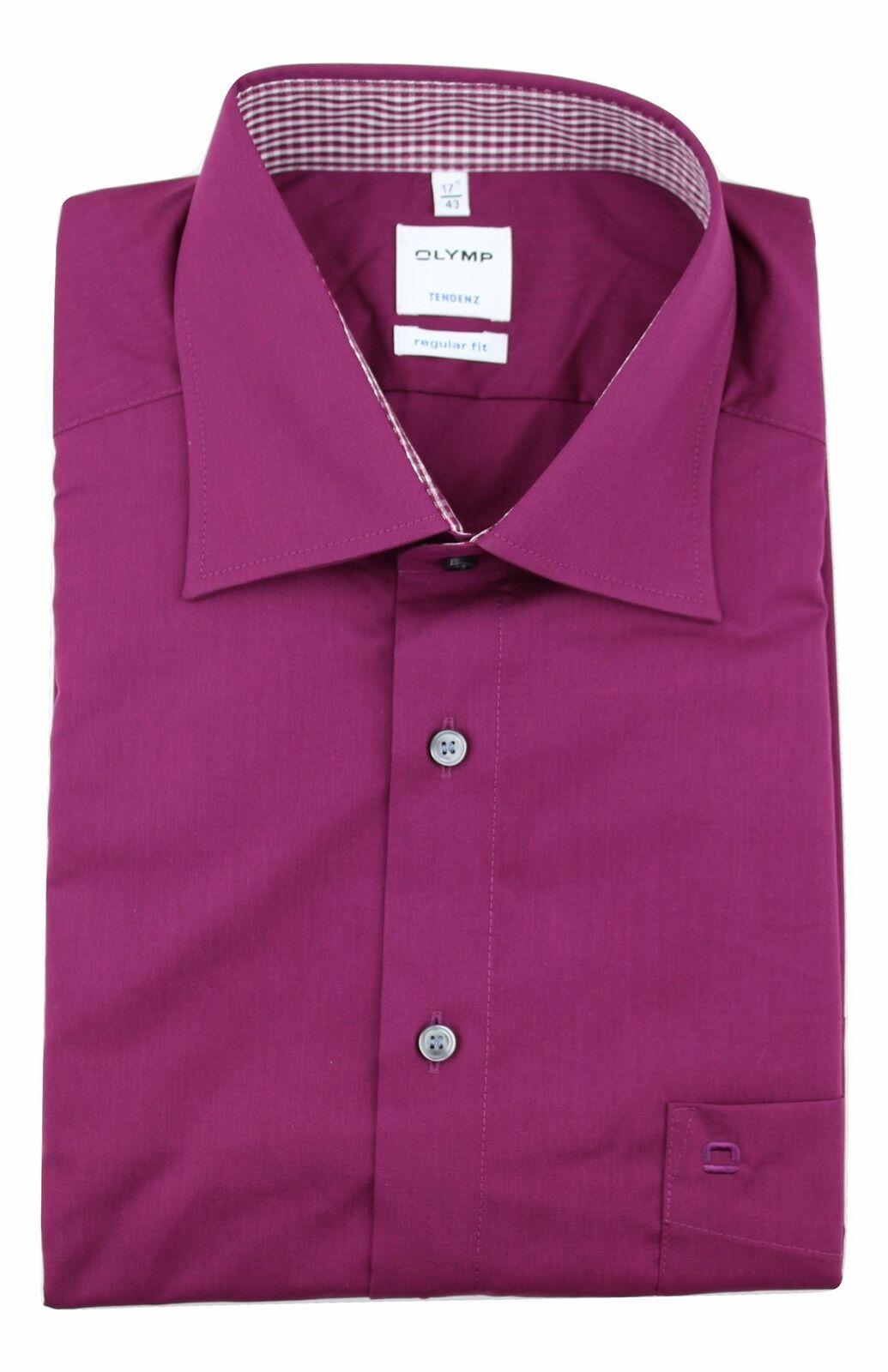 Claret Contrast Spread Collar
