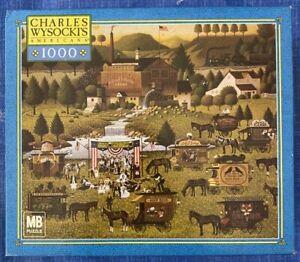 "Charles Wysocki 1000 piece puzzle ""RALLY AT DANDELION MILL"" NEW"
