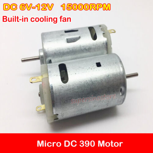 Micro Mini 390 Motor DC 6V-12V 7.2V 15000RPM Electric High Speed Large Torque