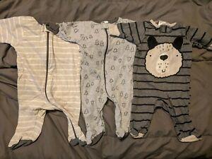 Baby Boy Clothes Lot Newborn Months Brown Jumper 3 Piece Dog Ebay