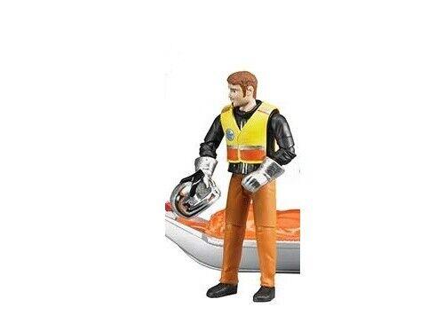 NEUF BRUDER TOYS Snow Mobile SKI DOO conducteur Man Figure