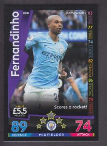 Match Attax-On Demand 2018//19-044 Fernandinho-Manchester City