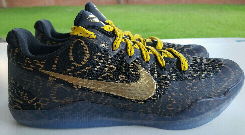 more photos e35ff 39c24 Nike Kobe XI baja Mamba día id id id negro   oro tamaño 9,5