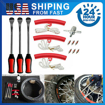 12pc Tire Lever Tool Spoon Motorcycle Tire Change Bicycle Dirt Bike Kit EB