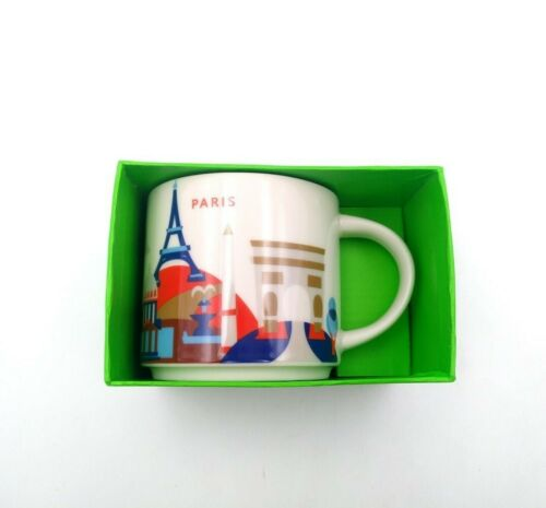 414ml StarBK Coffee Mug Cup You Are Here Collection City YAH Paris France