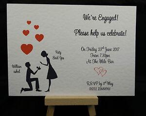 personalised handmade engagement proposal magnet invites invitations