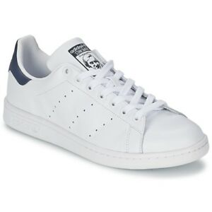 new arrival a06fc 90c2d Image is loading Adidas-Stan-Smith-Sneakers-White-Blue-m20325