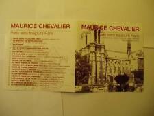 MAURICE CHEVALIER PARIS SERA TOUJOURS PARIS CD 2003