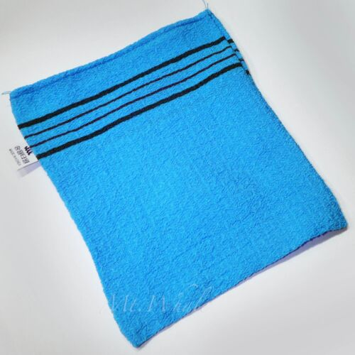 SMALL BLUE ITALY TOWEL KOREAN WASHCLOTH BODY SCRUBBER EXFOLIATING SONGWOL NEW