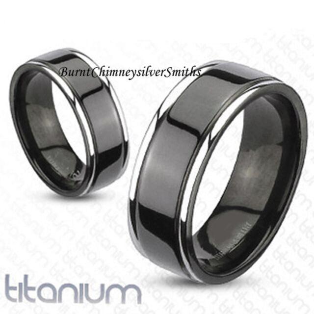 Personalized Solid Titanium Black Ring,Promise,Friendship,Wedding BCSS-R-TM-3043