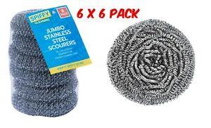 6-x-6PK-Jumbo-Heavy-Duty-Stainless-Steel-Dishwashing-Scourers-Scrub-Wire-Kitchen