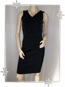 C Magnifique Robe Droite Chasuble Noire Tissu Simili Cuir Mohito T 36 Neuve Ebay