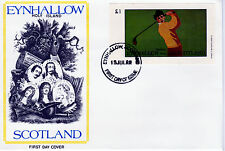 GB Locals - Eynhallow  3795 - 1982 GOLF imperf souvenir sheet on first day cover