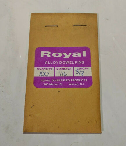 """Pack of 100-1//16/"""" x 3//8/"""" Royal Dowel Pins Alloy Steel"""