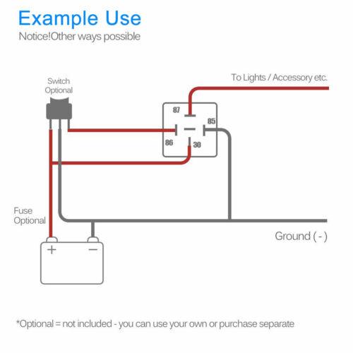 5pcs Relay Wire Harness Socket SPDT 5Pin 12V 30//40Amp Automotive Car Relays Kit