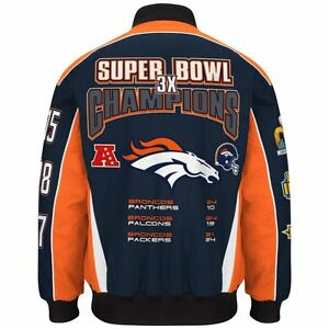 7b033e202e14 NFL Men s Denver Broncos 3 Time Super Bowl Champion Cotton   Twill ...