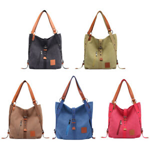 Women-Canvas-Casual-Shoulder-Bag-Travel-Backpack-Rucksack-Messenger-Bags-UK