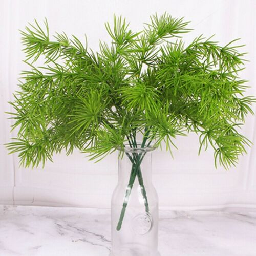 Artificial Fake Pine Branches Green Plants Flower Christmas Tree Decor BL