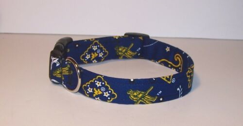 Wet Nose Designs West Virginia University Bandana Dog Collar NCAA Mountaneers