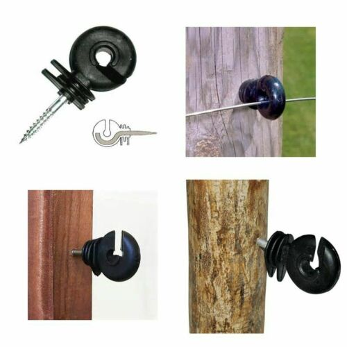 Electric Fence Offset Ring Insulator Fencing Screw In Posts Wire Fence Insulator