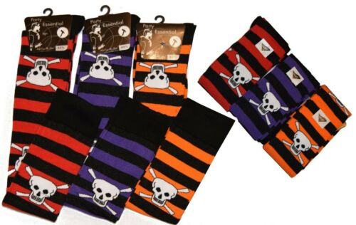 New Over The Knee Socks Pumpkin Rock Skull Skeleton Halloween UK 4-6 EU 35-39