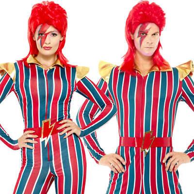 Soleggiato Ziggy Stardust Adulti Costume David Bowie 80s Celebrità Costume Da Uomo Donna-mostra Il Titolo Originale