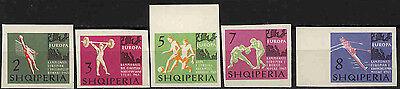 Realistisch Albanien 768-772 * * Sport 10852 Erhaltung Ungleiche Leistung Katalognummern Nach Michel-katalog