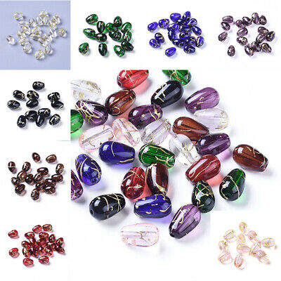 50 x Transparent Drawbench Glass Beads 6mm Round Various Colours Available