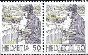 Schweiz-1343Dl-Dr-waagerechtes-Paar-kompl-Ausg-gestempelt-1987-Postbefoerderun