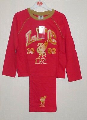 BRAND NEW OFFICIAL LIVERPOOL F.C RED /& GOLD PYJAMAS AGES 4-5 5-6 /& 7-8 YEARS
