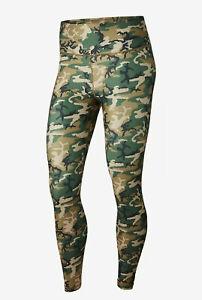Nike-Camo-Trainings-Tights-Hose-Leggings-Damen-BQ8090-304-Gruen-Braun-Neu-Gr-M
