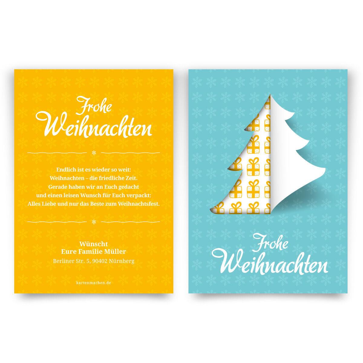 Weihnachtskarten - moderner Tannenbaum - Grußkarten Weihnachtsgrußkarten | Starke Starke Starke Hitze- und Hitzebeständigkeit  | Ausgezeichneter Wert  af686d