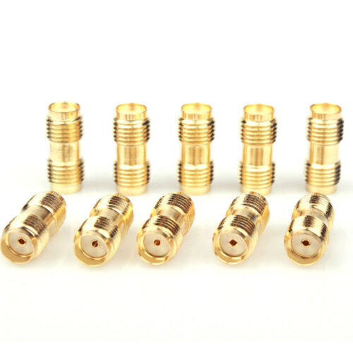 SMA female to SMA female jack Straight RF Connector Adapter 2//10//25//50//100 Lot