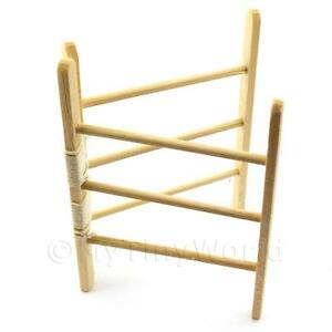 Details About Dolls House Miniature Opening Wooden Clothes Horse