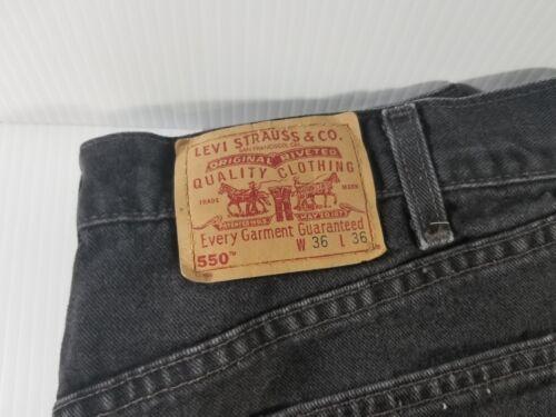 34x35 étiquette Noir Levis Fabriqué Usa 550 Relaxed Fit 36x36 wAqPSOI