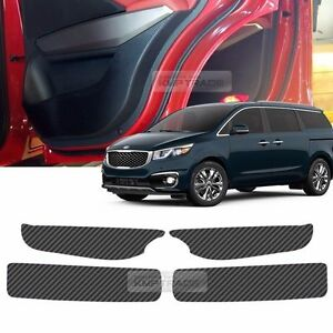 Carbon Door Decal Sticker Cover Kick Protector Set For