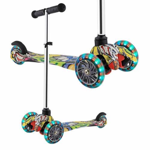 Kinderscooter Kinderroller Scooter 3 Räder mit PU Leuchträdern für Mädchen t 01