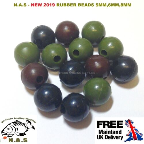 5MM FISHING RUBBER RIG BEADS LEDGER BUFFER STOPS FOR CHOD HAIR RIGS