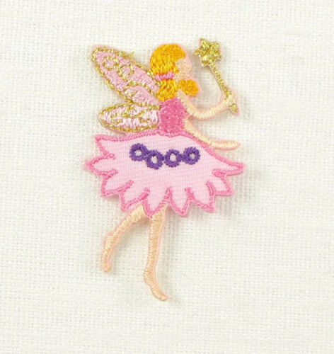 SMALL Embroidered Iron On Sew On Patch FAIRY ANGEL SANTA
