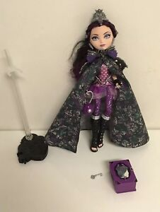 Ever-After-High-Legacy-Day-Raven-Queen-Doll-and-accessories-EUC