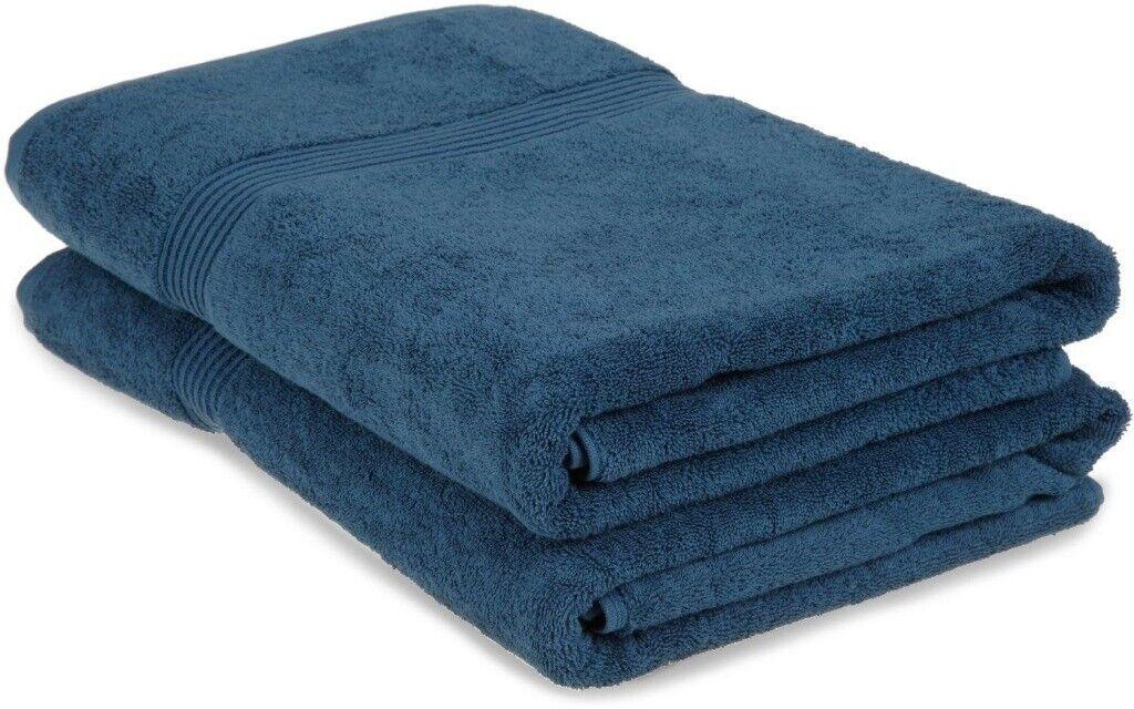 2-Pc Sapphire Blau Superior Superior Superior 600 GSM Egyptian Cotton Bath Sheet Towel Set 1-Ply 2ff2b5