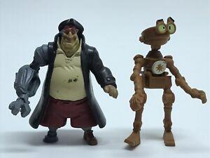 Disney-Treasure-Planet-Loose-Figure-Lot-Of-2-McDonalds-Pirates