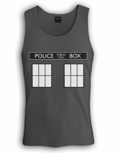 POLICE BOX dr doctor show series Singlet TARDIS who Easy Halloween Costume 1962