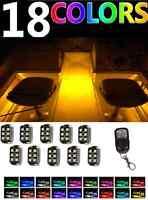 10pc Boat Deck Interior Led Pontoon Marine Bass Waterproof Pod Neon Lights Kit