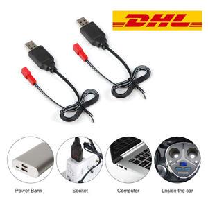 2-Stueck-USB-3-7V-Lipo-Akku-Ladegeraet-JST-Stecker-fuer-RC-FPV-Drhone-Lipo-Batterie