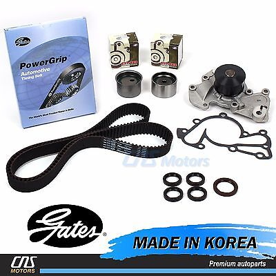 Gates HTD Timing Belt Kit Water Pump for 99-10 Hyundai Kia 2.5L 2.7L DOHC V6