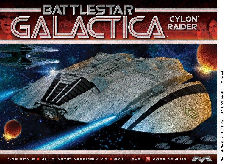 2014 Moebius 1 32 Battlestar Galactica Original 1978 Cylon Raider new model kit