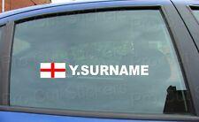 x1 Rally Etikett Name Nachname Fenster Sticker Aufkleber England St. George