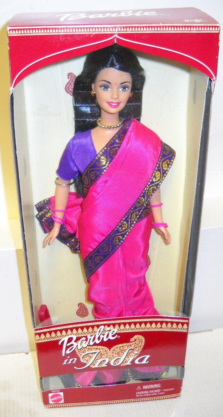 Nrfb Mattel Barbie En La India Sari exterior Muñeca